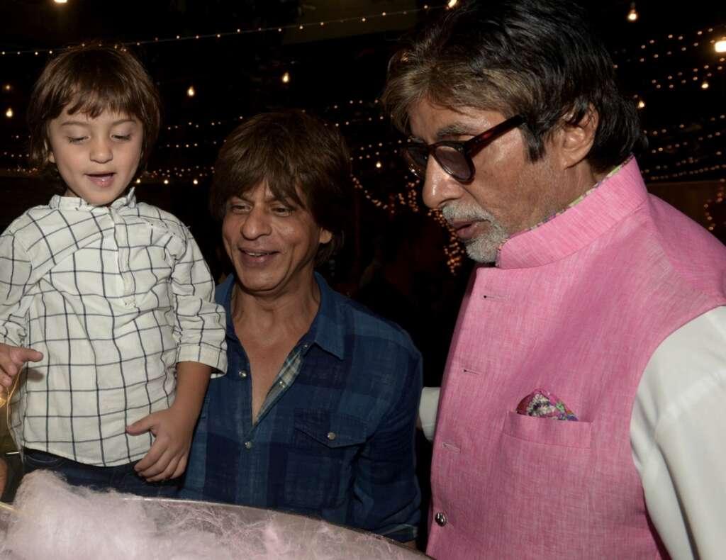 AbRam thinks Big B is Shah Rukh Khans papa