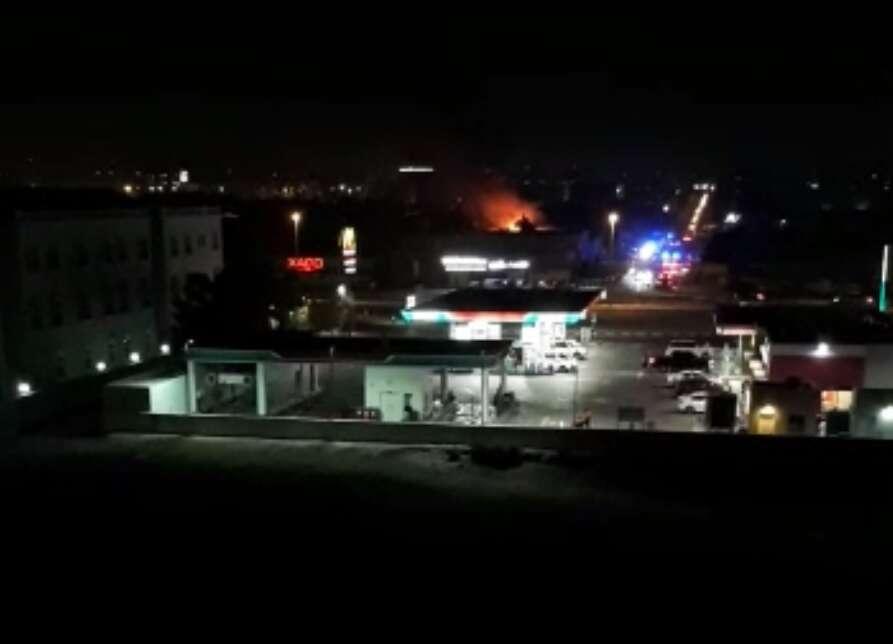 Fire erupts near petrol station in Dubai