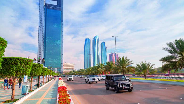 abu dhabi, congested, capital, least congested
