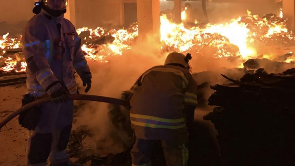 Video: Warehouses gutted in massive Ajman fire