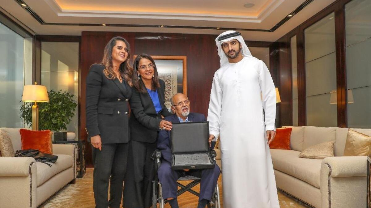 Sheikh Hamdan honours Indian tycoon in Dubai
