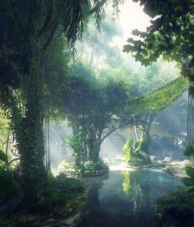 PICS: New Dubai hotel will have its own RAINFOREST!