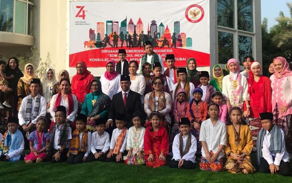 Indonesian expats, 74th Independence Day, Dubai, celebration, UAE, Indonesia,