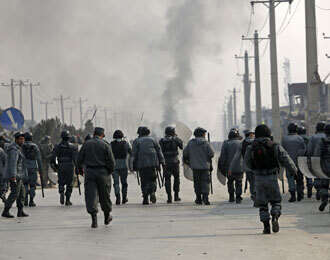 Two die as protesters clash with police in Afghan capital