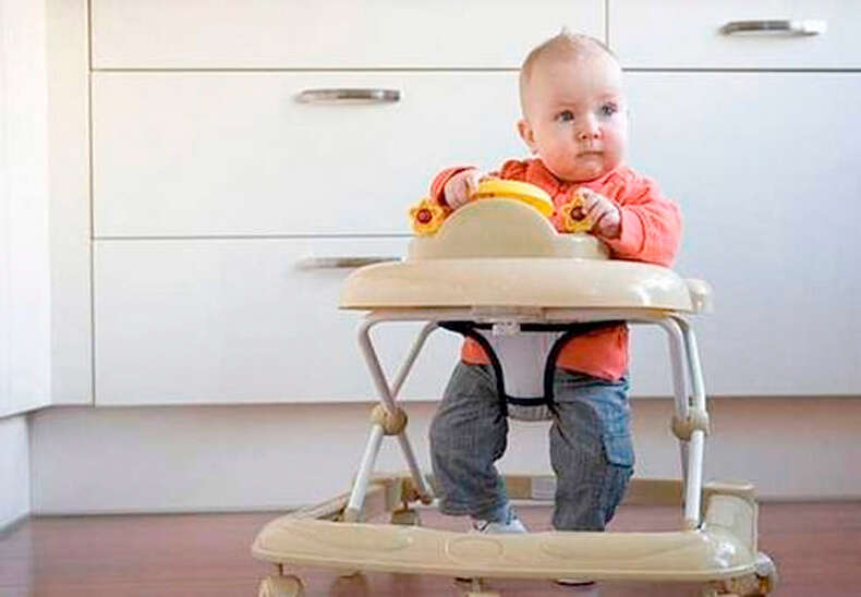 Almost half the families using a baby walker had seen at least one child being injured.