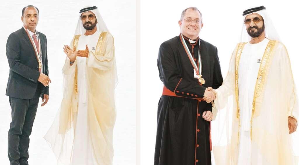 UAE Pioneers award, UAE, Christian, expat, priest,  Sheikh Mohammed