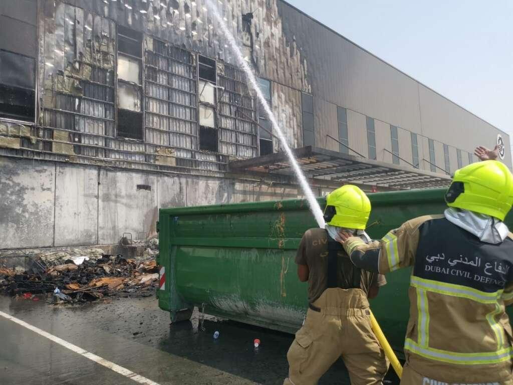Dubai civil defense, controls, fire, Duty free, no injuries recorded,