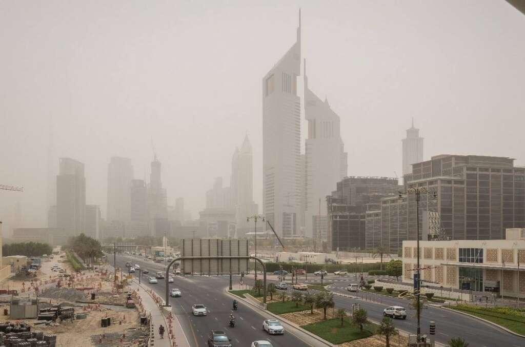Hot, dusty, day, UAE, National Center of Meteorology, Dubai, Abu Dhabi