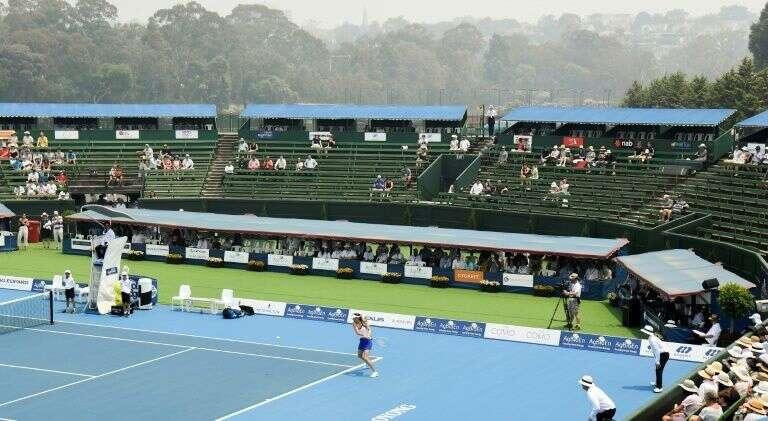 Australian Open qualifying, bushfire