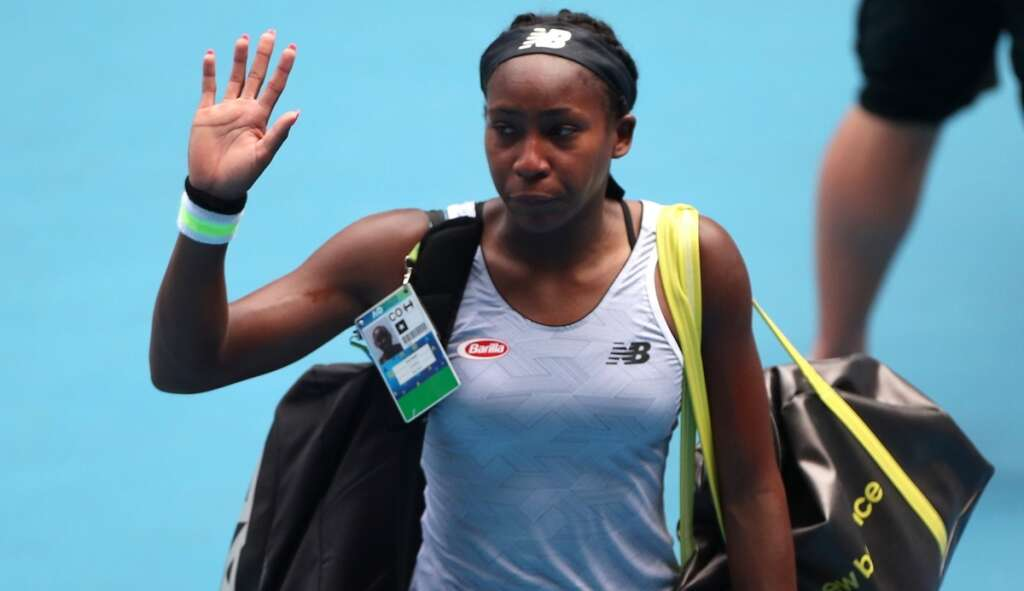Couldnt write this: Gauff makes exit