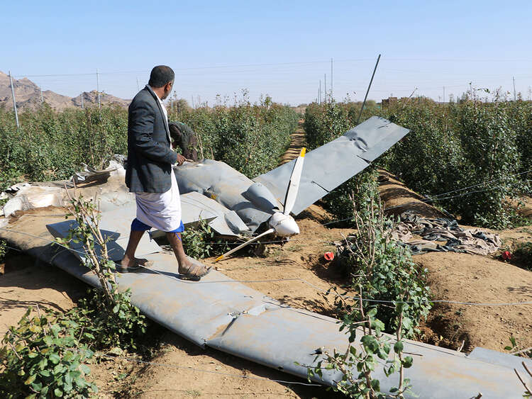Coalition, forces, destroyed, drone, explosives, Saudi arabia, houthis, turki al maliki