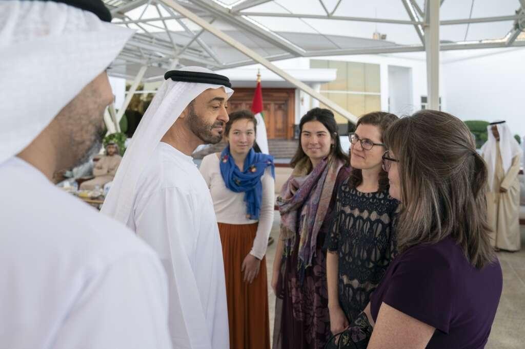 Mohamed bin Zayed, receives, Dr. Kennedys family, UAE Armed Forces, healthcare, Al Ain, Abu Dhabi, Kanad Hospital,