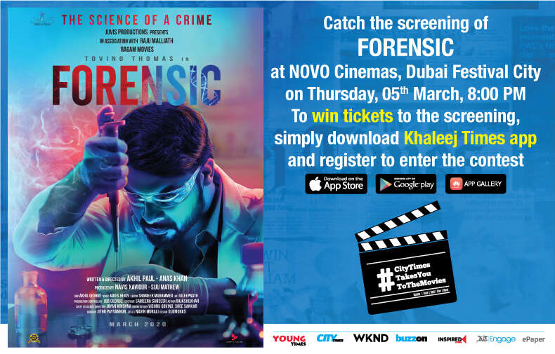 Win Tickets For The Movie Forensic The Science Of A Crime News Khaleej Times