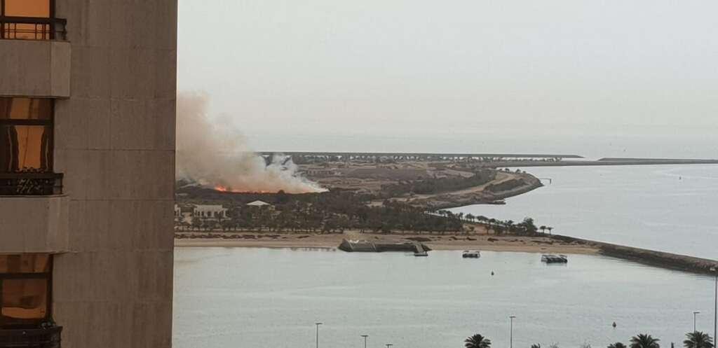 Fire breaks out in Abu Dhabis Lulu island