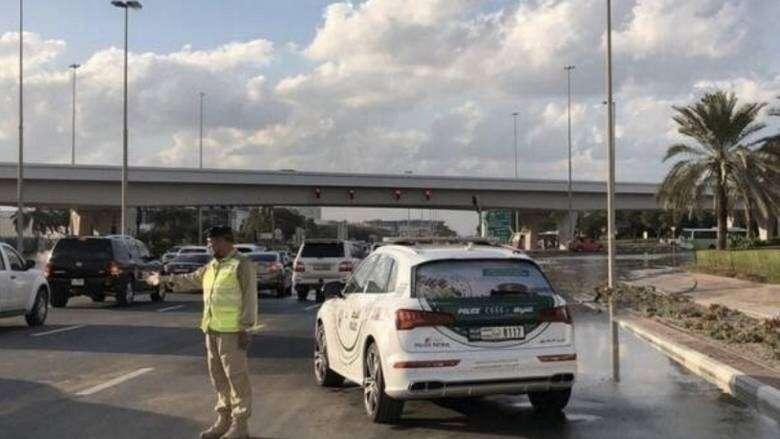 water logging, Dubai Expo Road, Traffic jam, morning rush