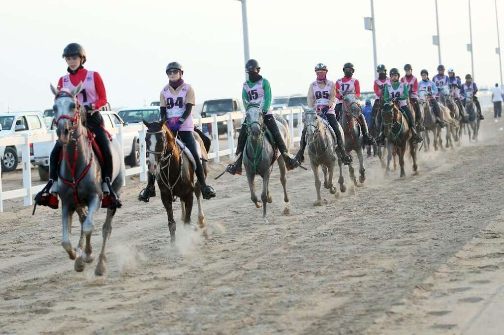 Ninety-five lady riders started the race in the morning.