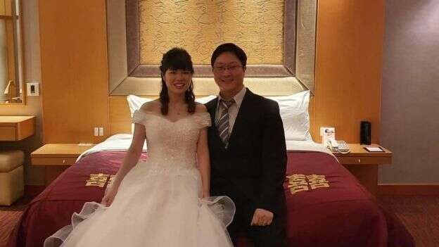 Couple who returned from China livestreams wedding to worried guests