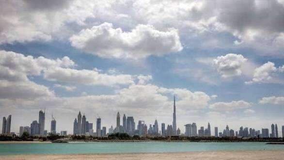 uae, weather. national center of meteorology, cloudy, parts, fair, general, humid, evening