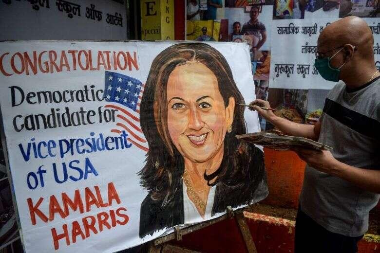Indians, Tamil Nadu, kamala harris, banners, us vice-presidential, hopeful, joe biden