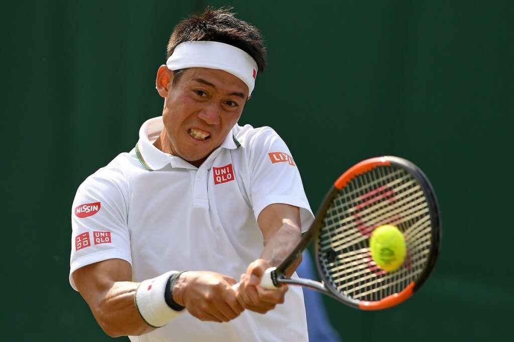 Nishikori becomes first Japanese to make last eight of Wimbledon
