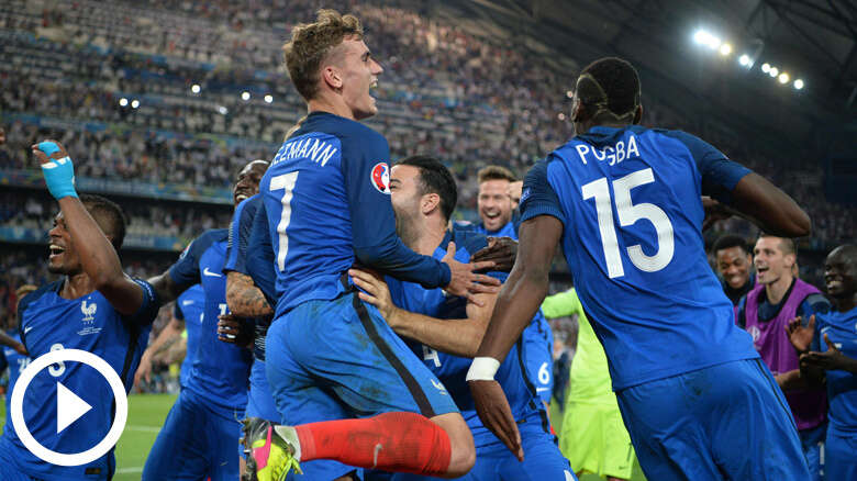 France beat Germany 2-0, to face Portugal in Euro final