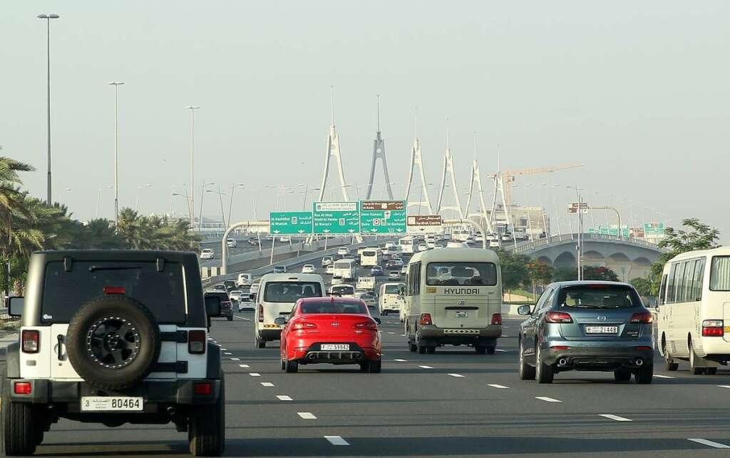 Dubai, Sharjah roads, traffic, UAE traffic
