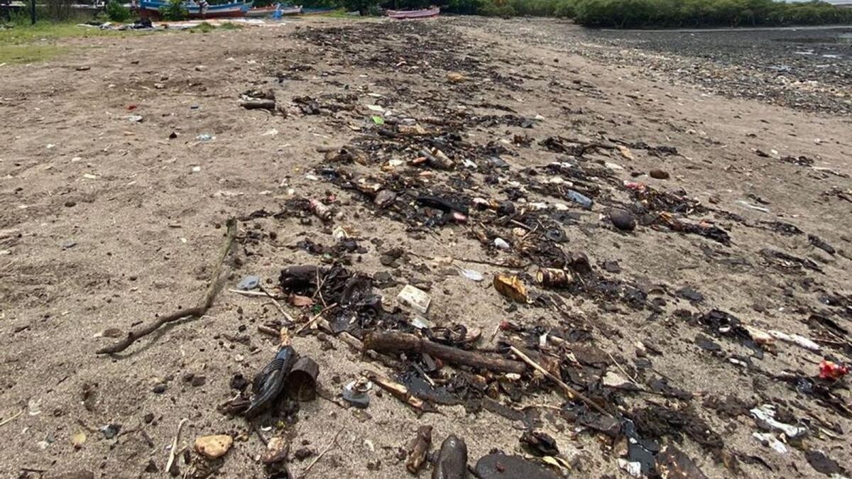 Look: Mystery tarballs clog Mumbai's beaches