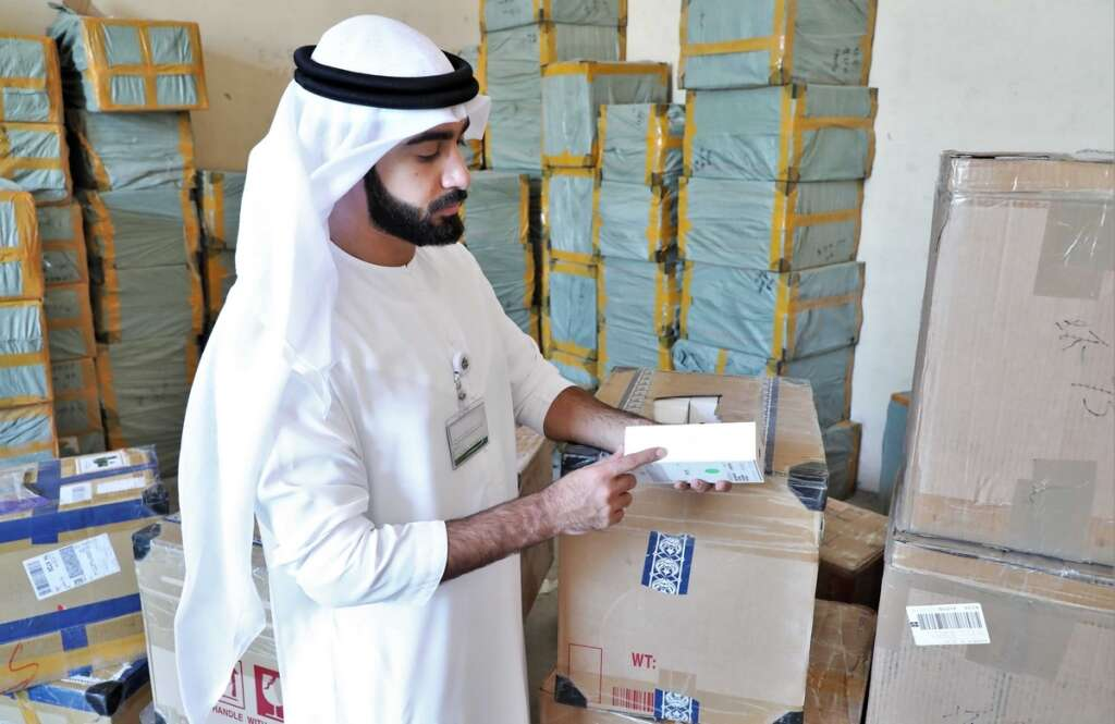 72,941, fake products, chargers, seized, Sharjah,  Sharjah Economic Development Department, counterfeit goods,