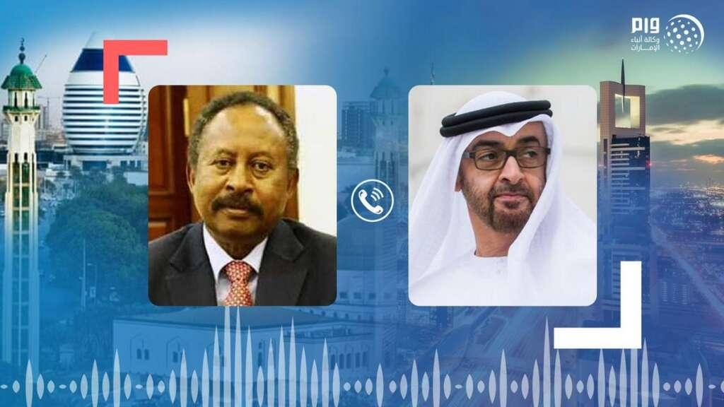 Sheikh Mohamed, Sudan Prime Minister, Dr Abdullah Hamdouk, regional, developments, coronavirus, Covid-19, telephone, call, UAE