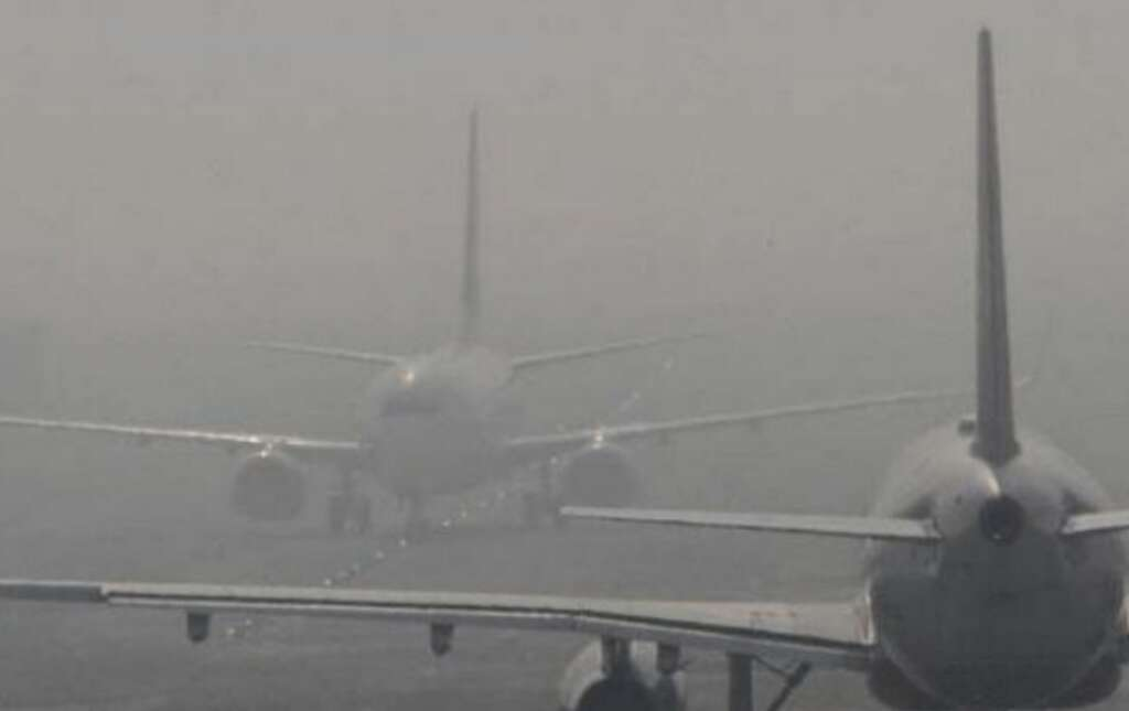 Image result for Low visibility forces flight diversion from Delhi for second successive day