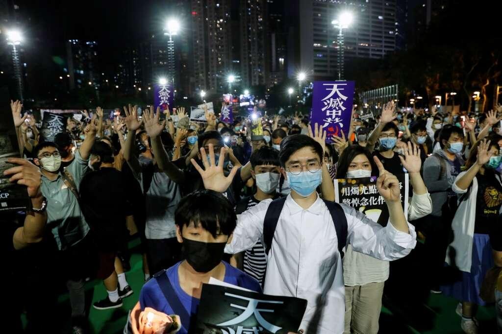 Hong Kong, commemorate, Tiananmen crackdown, China, defy, ban, new security law