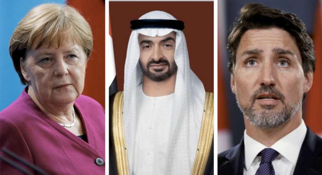 Sheikh Mohamed, Merkel, Canada, Germany