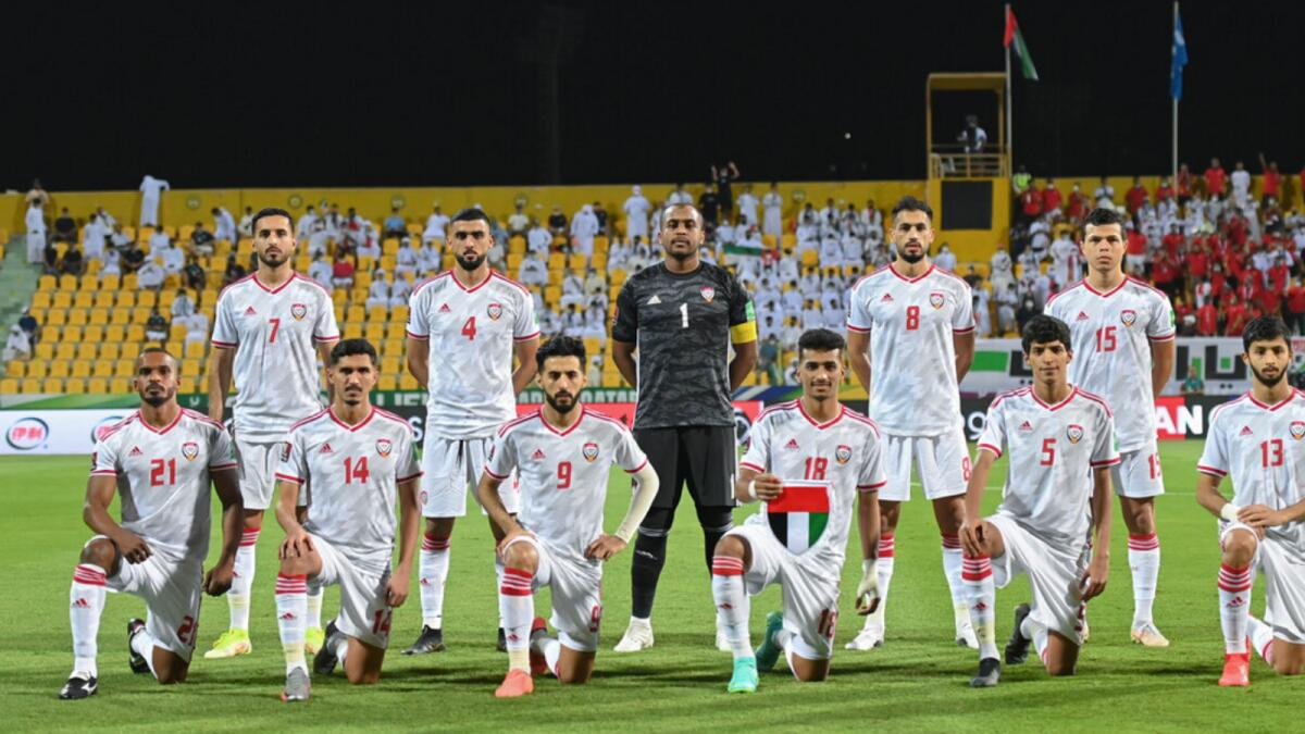 UAE lost to Iran on Thursday in their last World Cup qualifying game. (UAEFA Twitter)