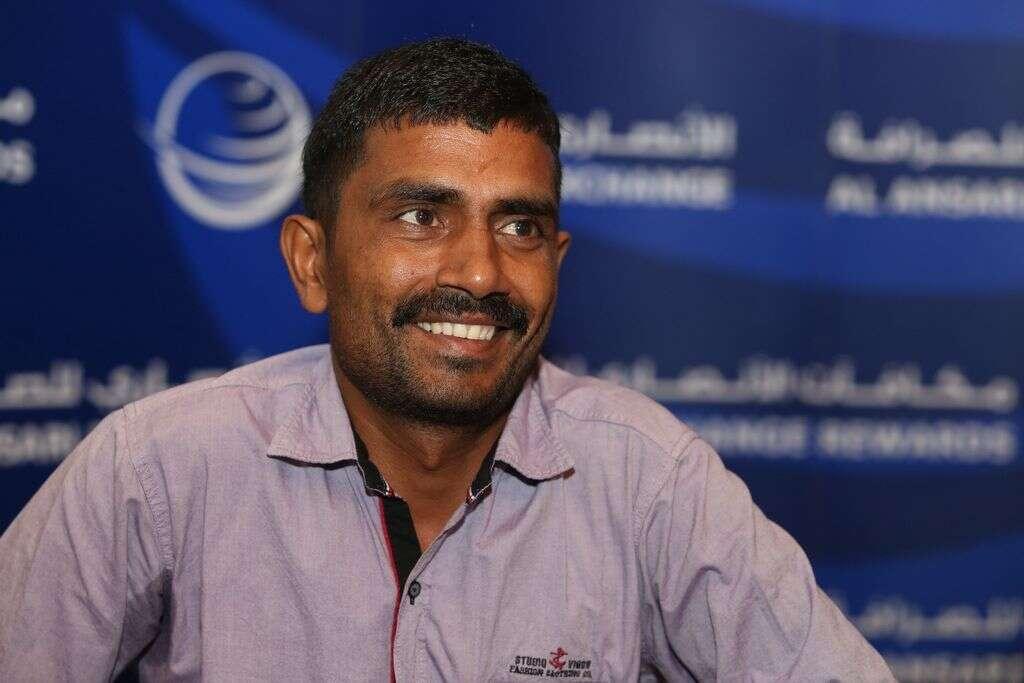 Nanhaku Yadav, winner of the Al Ansari Rewards Summer Promotion 2016 at the Dusit Thani Hotel in Dubai