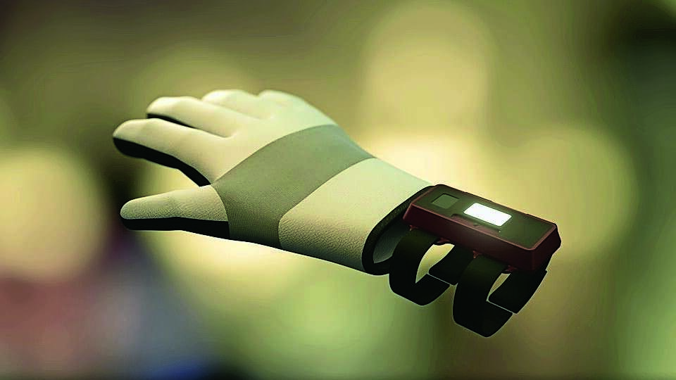 Image result for Glove that reads signs accurately unveiled during Gitex Technology Week