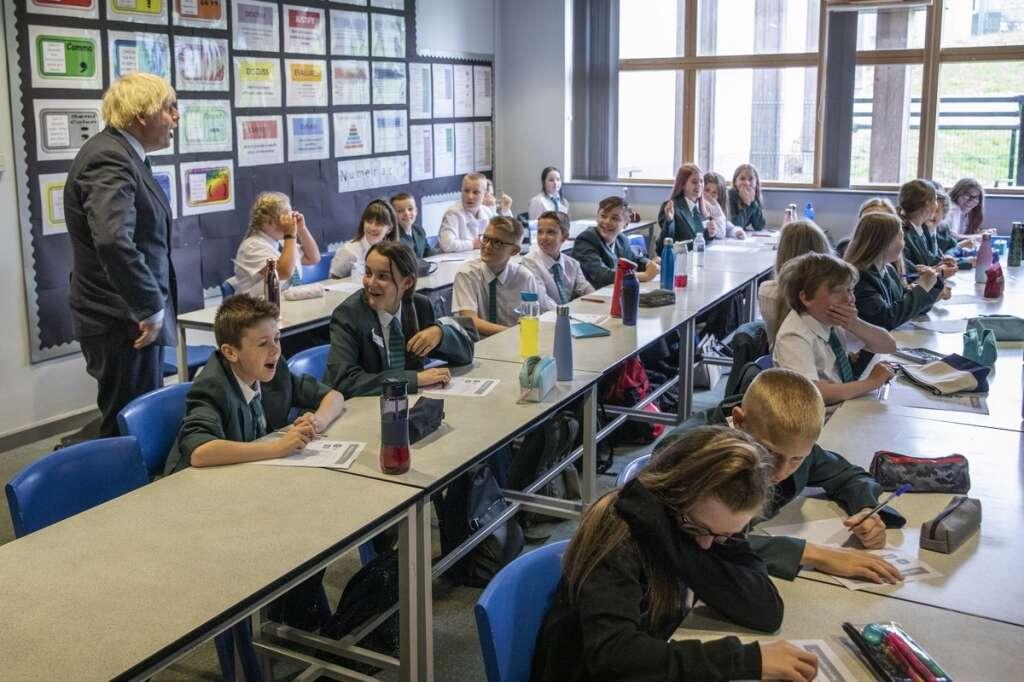 Face mask, schools, England