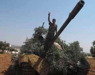 Syria rebels blast regime air base