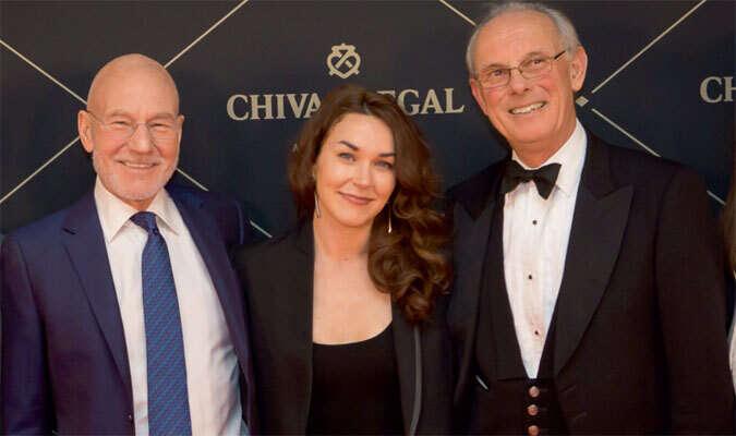 Sir Patrick Stewart attends Dubai dinner to receive honour