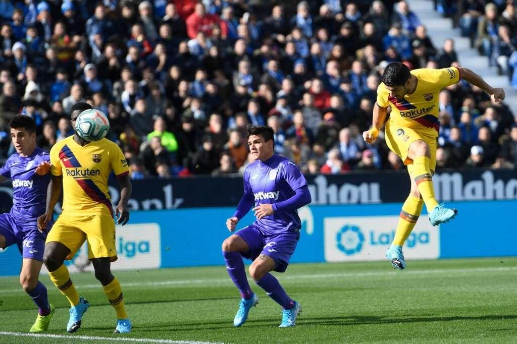 Freak Vidal goal gives sluggish Barca victory at Leganes