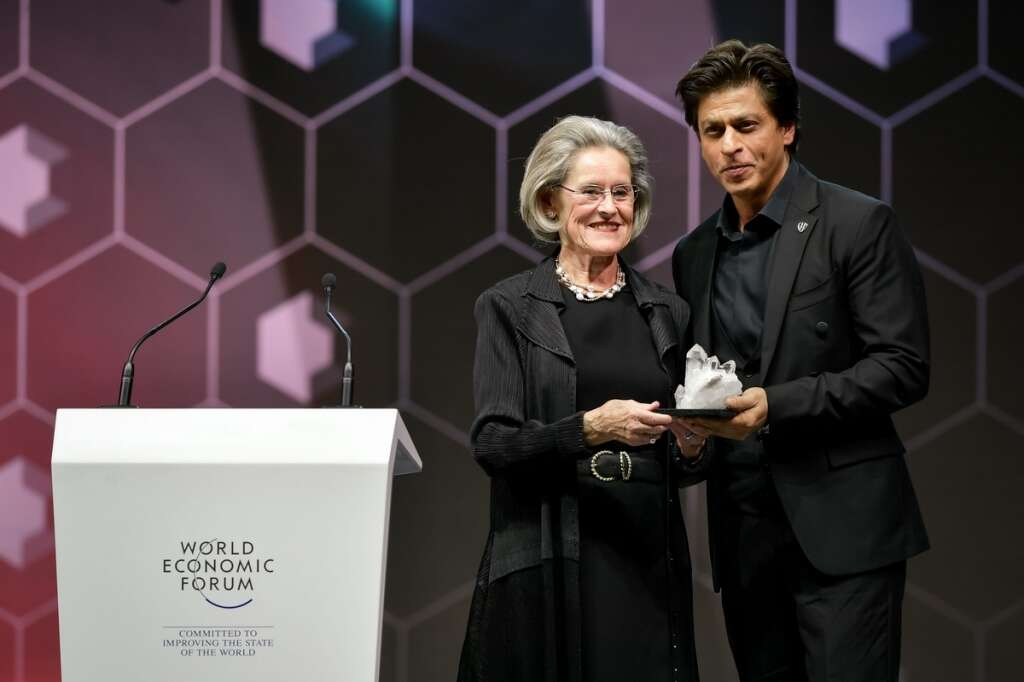 Shah Rukh Khan honoured to receive Crystal Award along with Elton ...