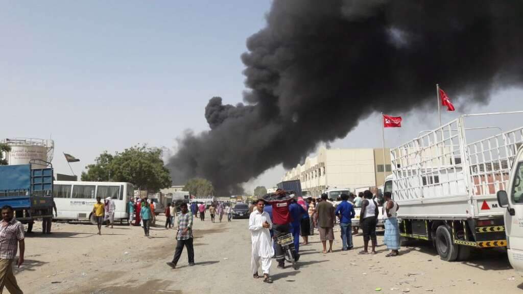 Video: Fire at Sharjah oil factory under control