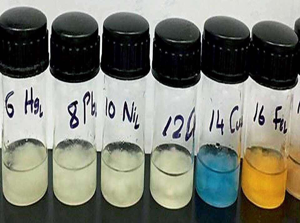 Modified cotton with contaminated water