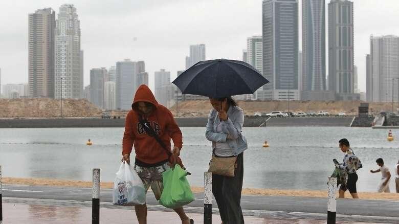 Heavy, rain, hit, parts, UAE, December 8, temperature, Dubai, Sharjah, Ajman, Fujairah, Khor Fakkan, Hatta,