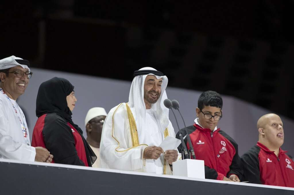 Sheikh Mohamed attends opening of Special Olympics