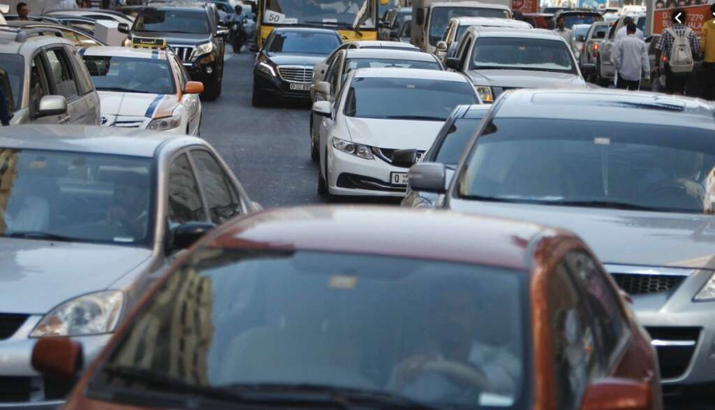 Multi-vehicle accident causes traffic chaos in UAE on first day of