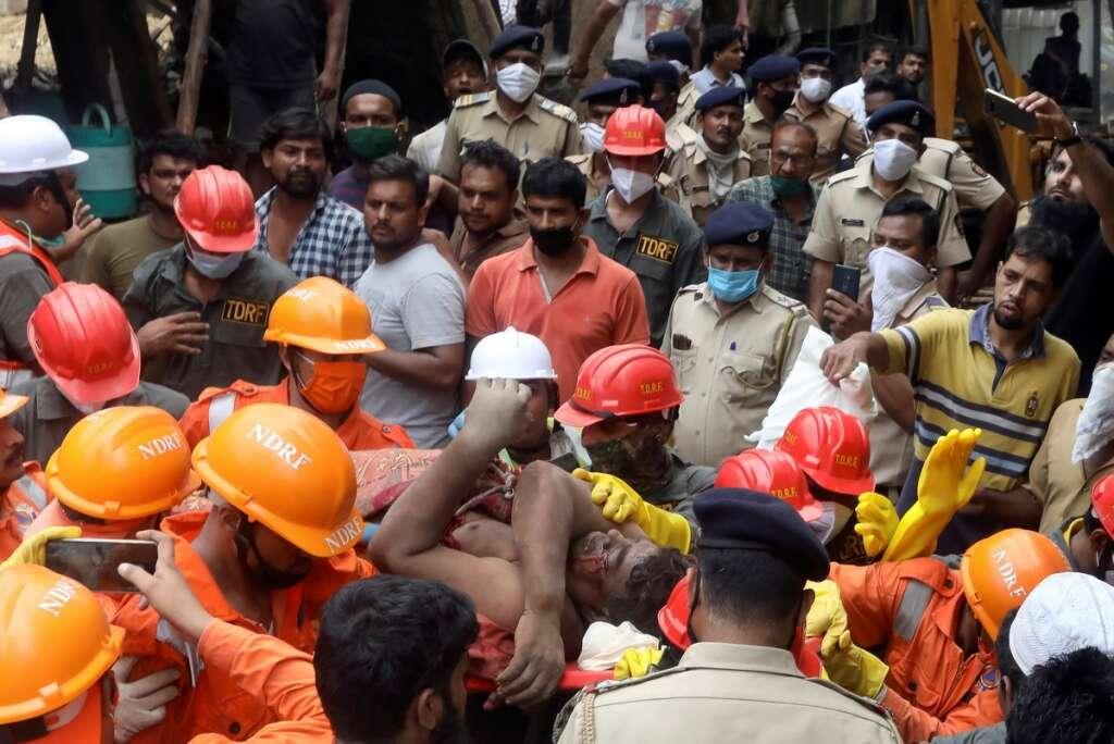 India building collapse, Bhiwandi, Mumbai