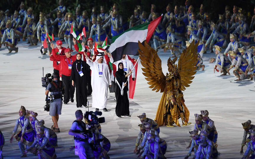 Spectacular show marks Asian Games opening