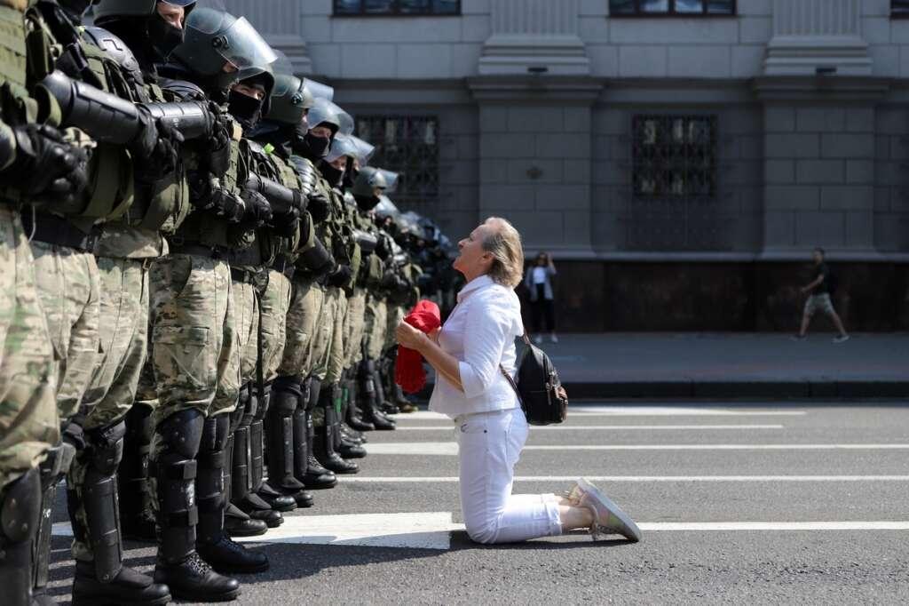 Belarus, Lukashenko, protest, Demonstrators, police