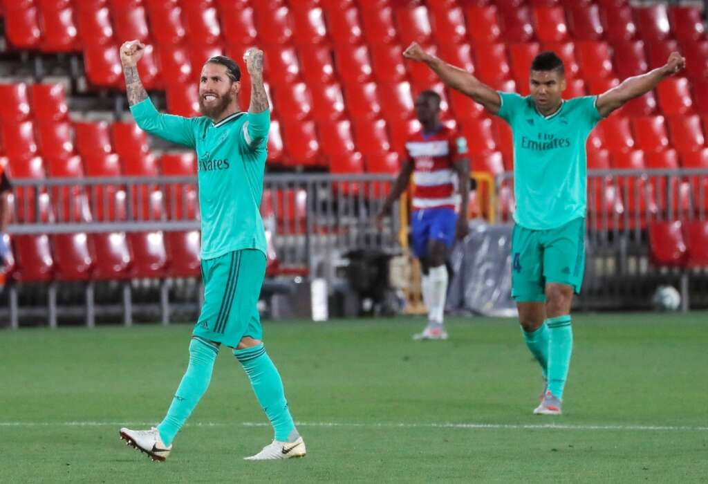 Real Madrid, one, win, away, la liga, title, granada, 2-1, Barcelona
