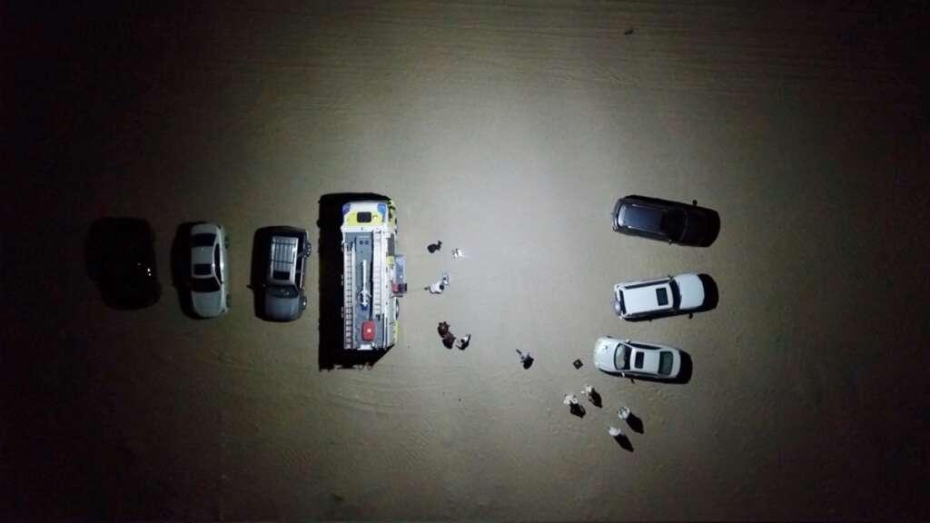 Drones, used, light up, dark, accident sites, UAE